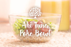image of florida orange juice ahi tuna poke bowl
